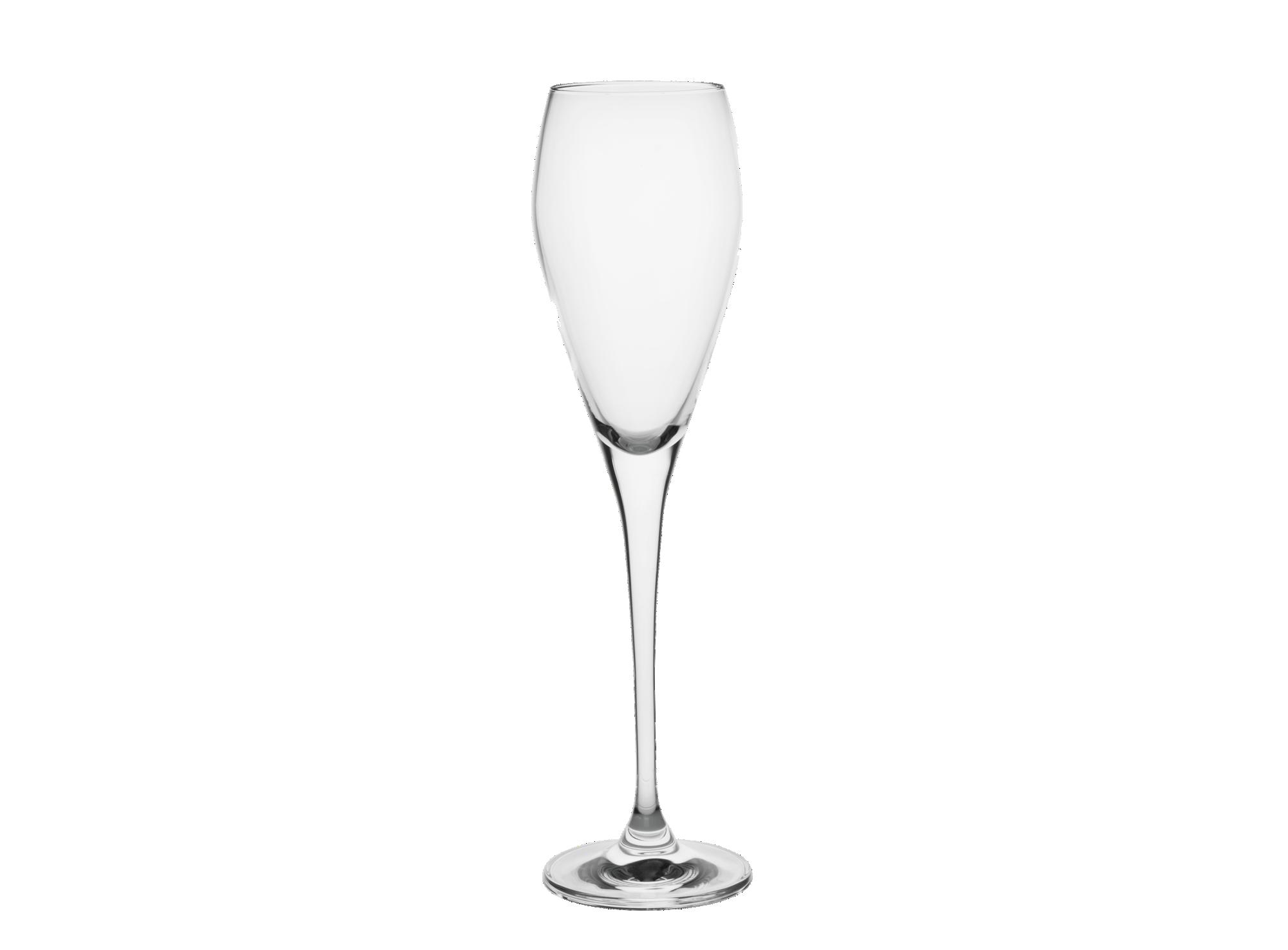 Flute 22 cl en verre mecanique brut transparent contenance : 22 cl  r ...