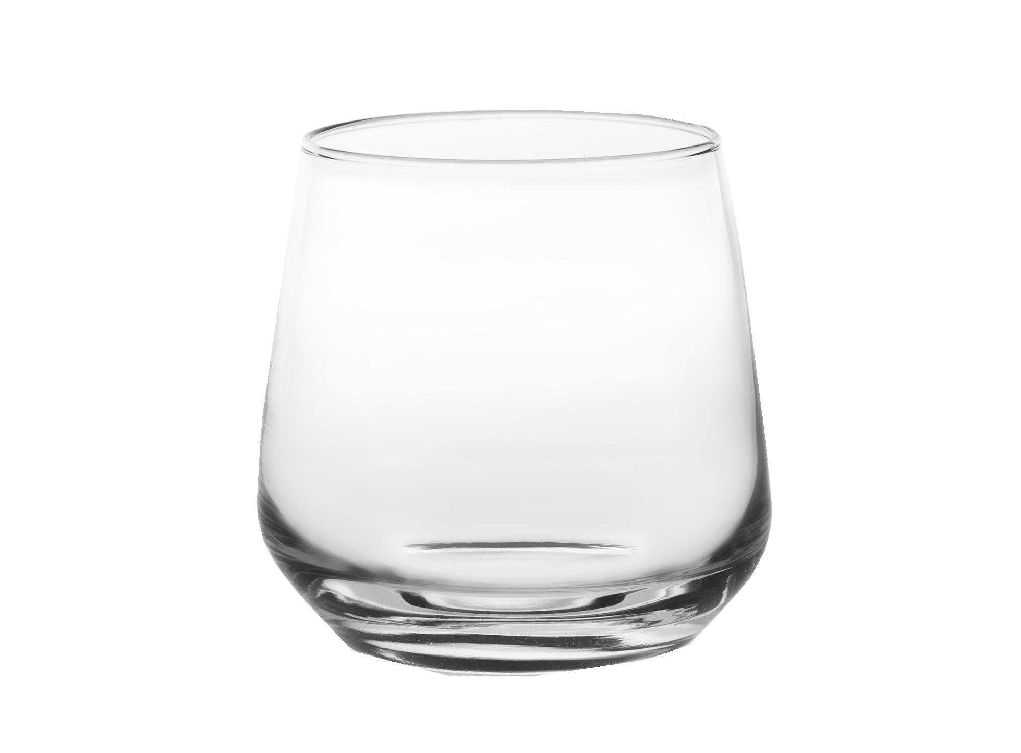 Gobelet 34,5 cl en verre mecanique brut transparent   resiste au lave ...
