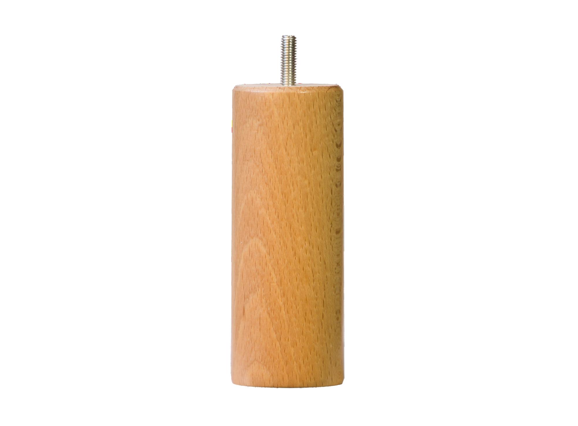 Jeu de 4 pieds cylindre hauteur 14.5cm diametre 54 vis m8 bois de het ...