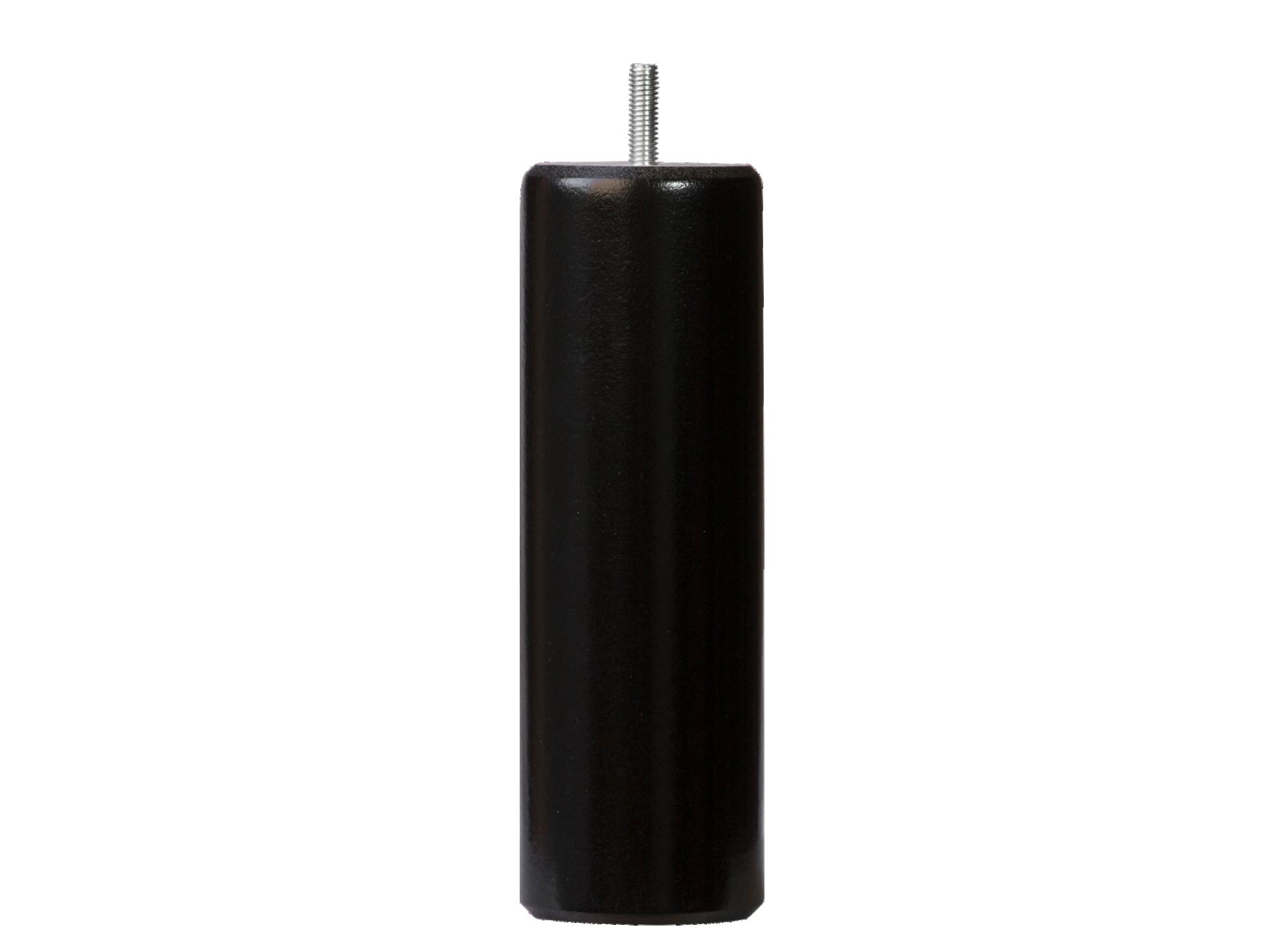 Jeu de 4 pieds cylindre hauteur 19cm diametre 62 vis m8 bois de hetre ...