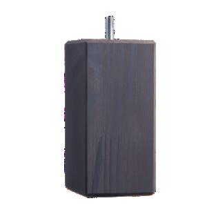 FLY-jeu de 4 pieds carre d50x50 h14.5 pin gris fonce