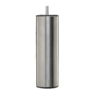 FLY-jeu de 4 pieds cylindre d50 h19 inox brosse