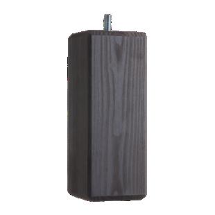 FLY-jeu de 4 pieds carre d60x60 h19cm pin gris fonce