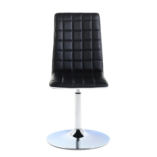 FLY-chaise pivotante chrome/noir