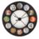Horloge d119cm en fer oxyde chiffres en verre presse brut decor papie ...