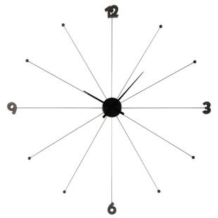 FLY-horloge d100cm en aluminium noire