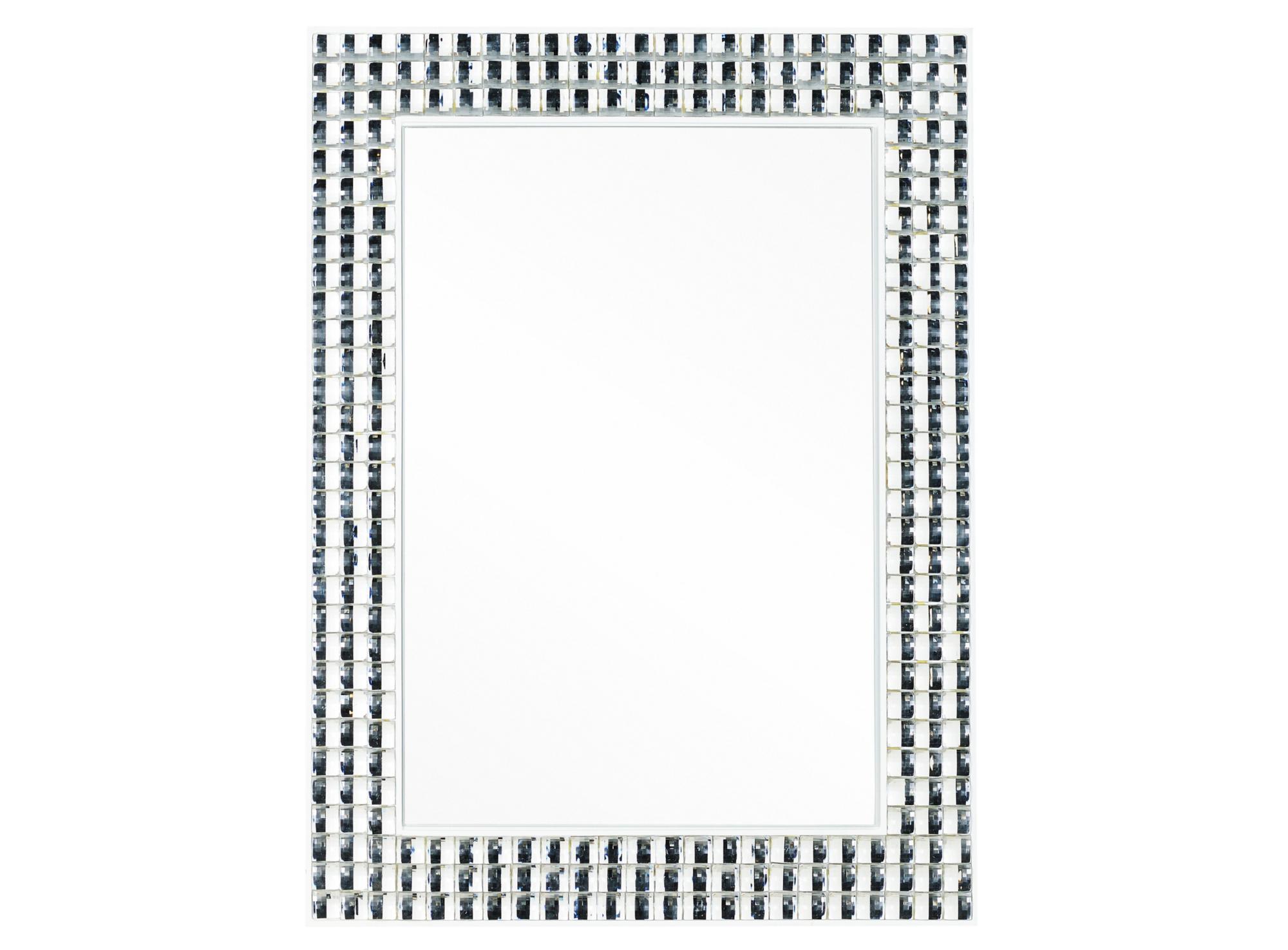 Miroir 80x60cm cadre en acier decore de cristaux en acryliqu e ...
