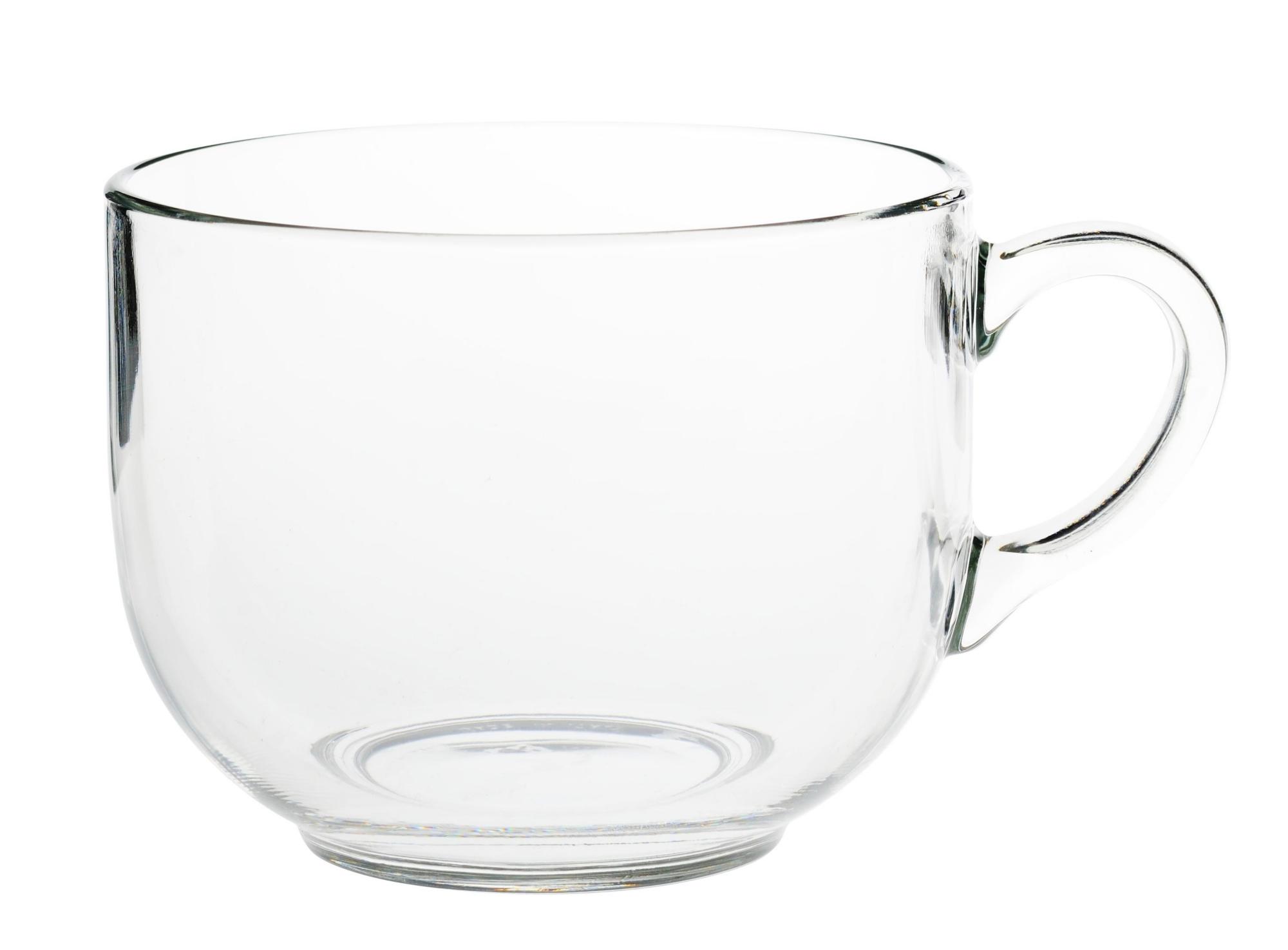 Mug en verre mecanique brut coloris transparent contenance 70cl resis ...