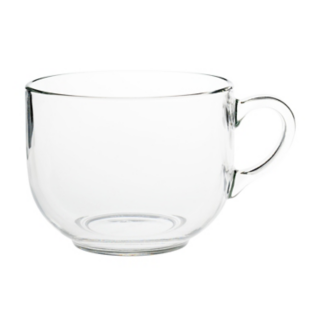 FLY-mug en verre 70 cl transparent