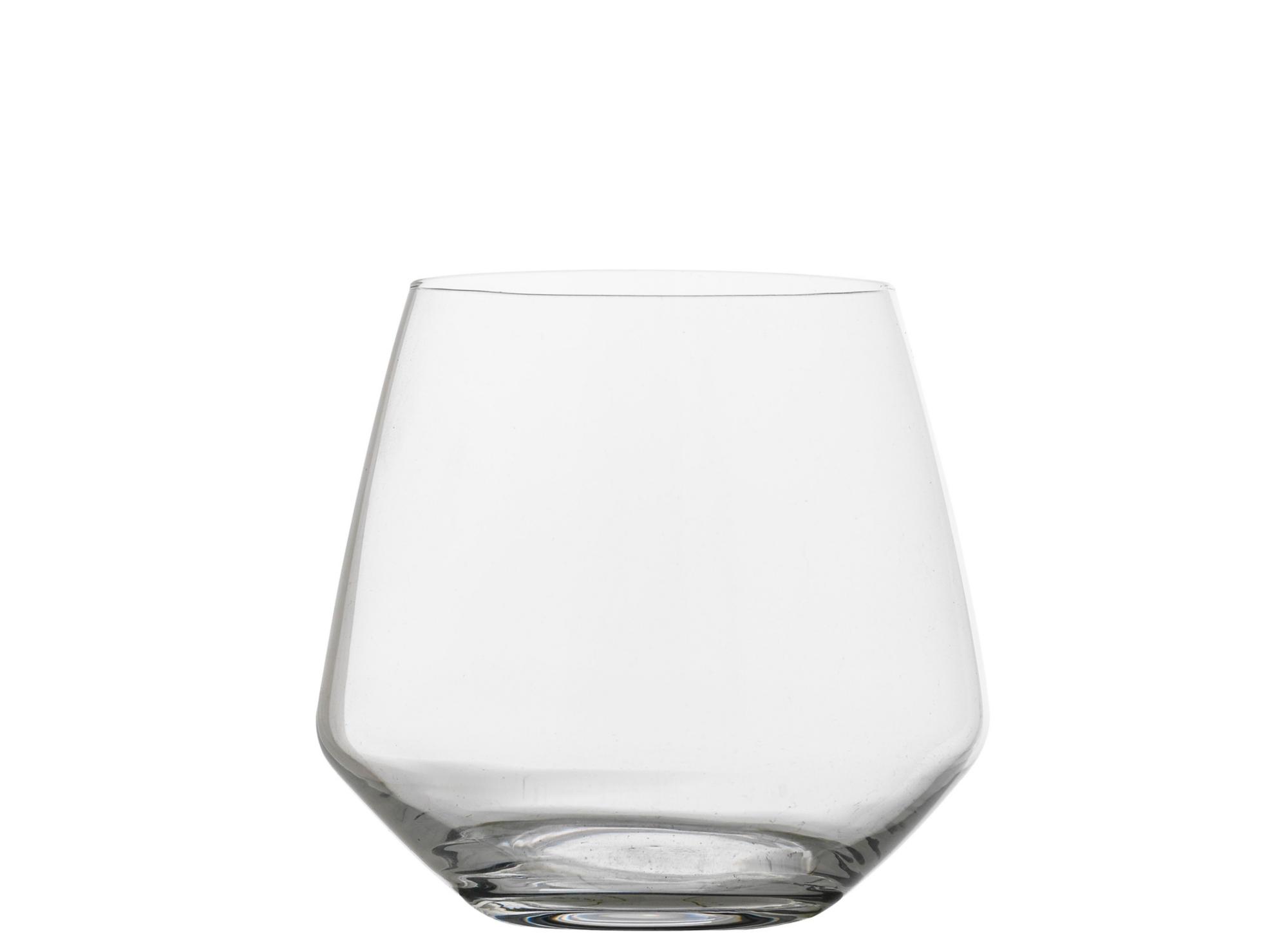 Gobelet en verre cristallin brut coloris transparent contenance 39 cl ...