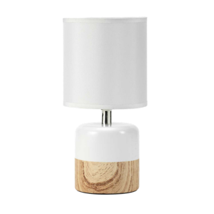 FLY-lampe d13 h27 blanc/naturel