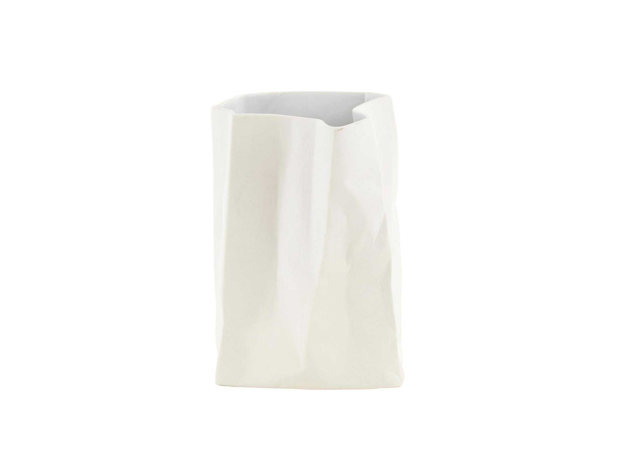 Vase h26cm en ceramique coloris blanc