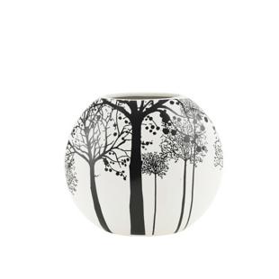 FLY-vase en gres 23x20,5 cm blanc/noir