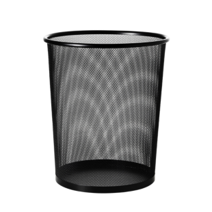 FLY-corbeille de bureau acier d29.5 h35 noir