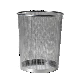 FLY-corbeille de bureau acier d29.5 h35 gris