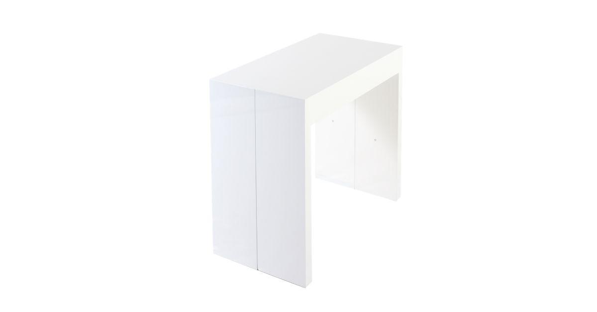 Console extensible coloris blanc 50 250x95cm meuble fly - Consoles meubles fly ...