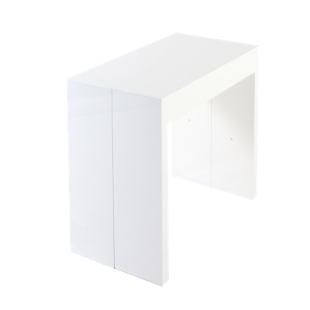 FLY-console extensible coloris blanc 50/250x95cm