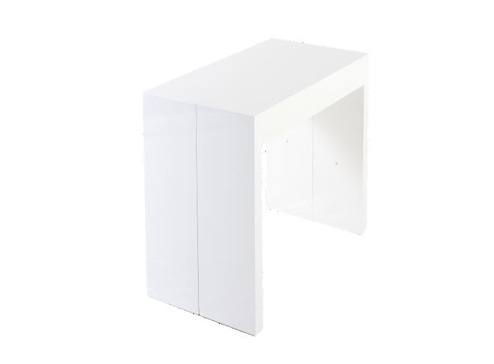 Console extensible coloris blanc 50 250x95cm table - Consoles meubles fly ...