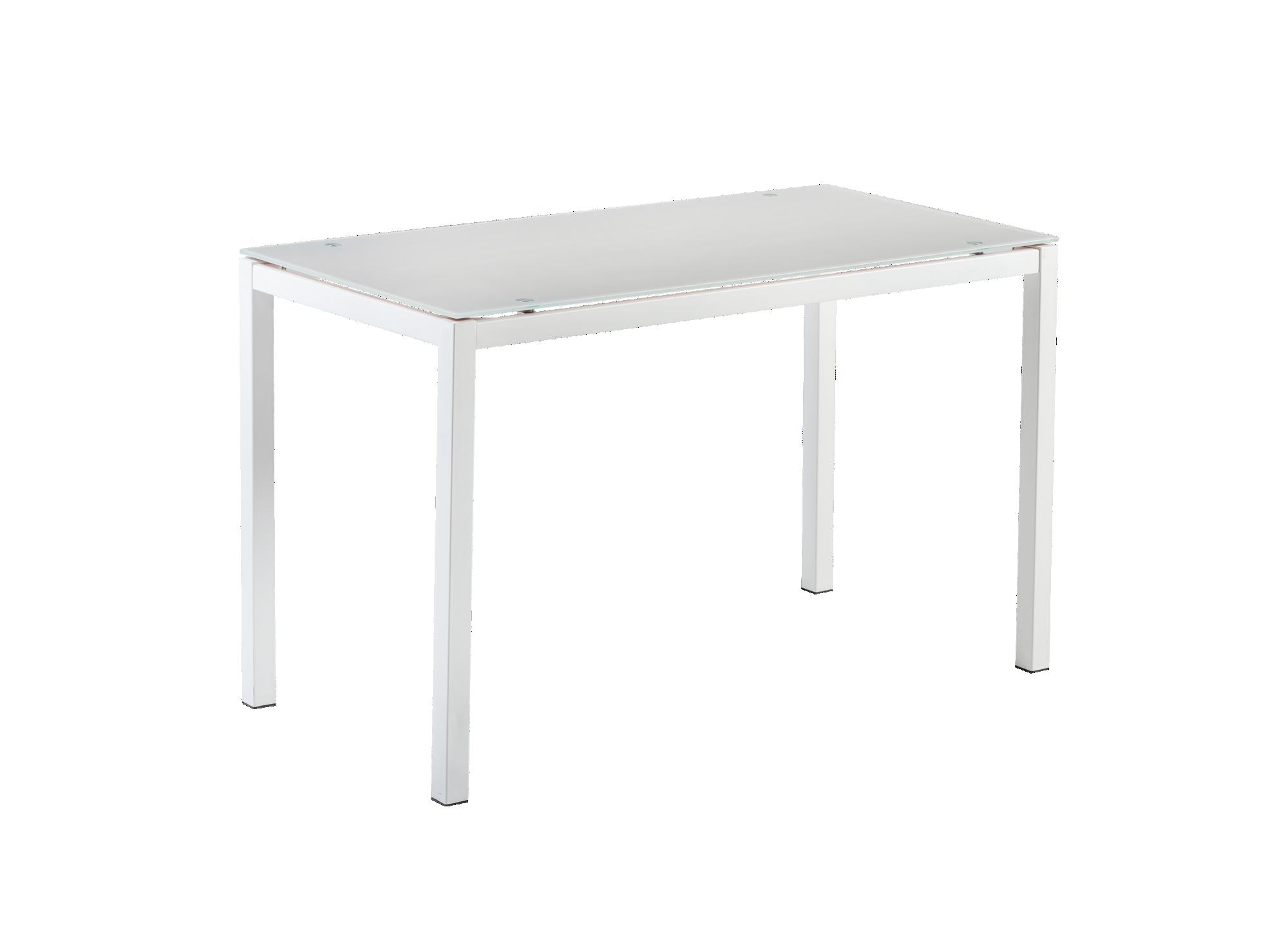 Table lunch extensible gri/blc structure en acier revetue de peinture ...