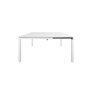 FLY-table extensible l90 a 140 cm acier/blanc