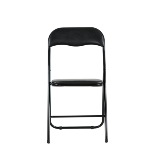 FLY-chaise pliante pu noir/noir