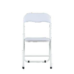 FLY-chaise pliante pu blanc/blanc