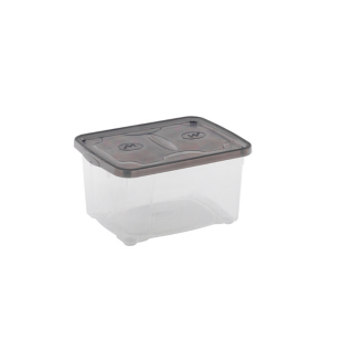 FLY-boite de rangement 15.4 l transparent/anthracite