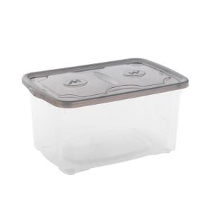 FLY-boite de rangement 44 l transparent/gris