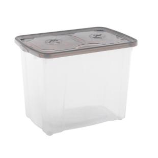 FLY-boite de rangement 64 l transparent/gris