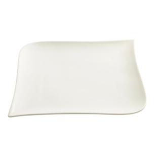 FLY-assiette plate en porcelaine 25,5x25,5 cm blanc