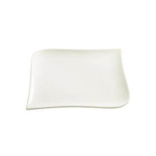 FLY-assiette dessert en porcelaine 20x20cm blanc