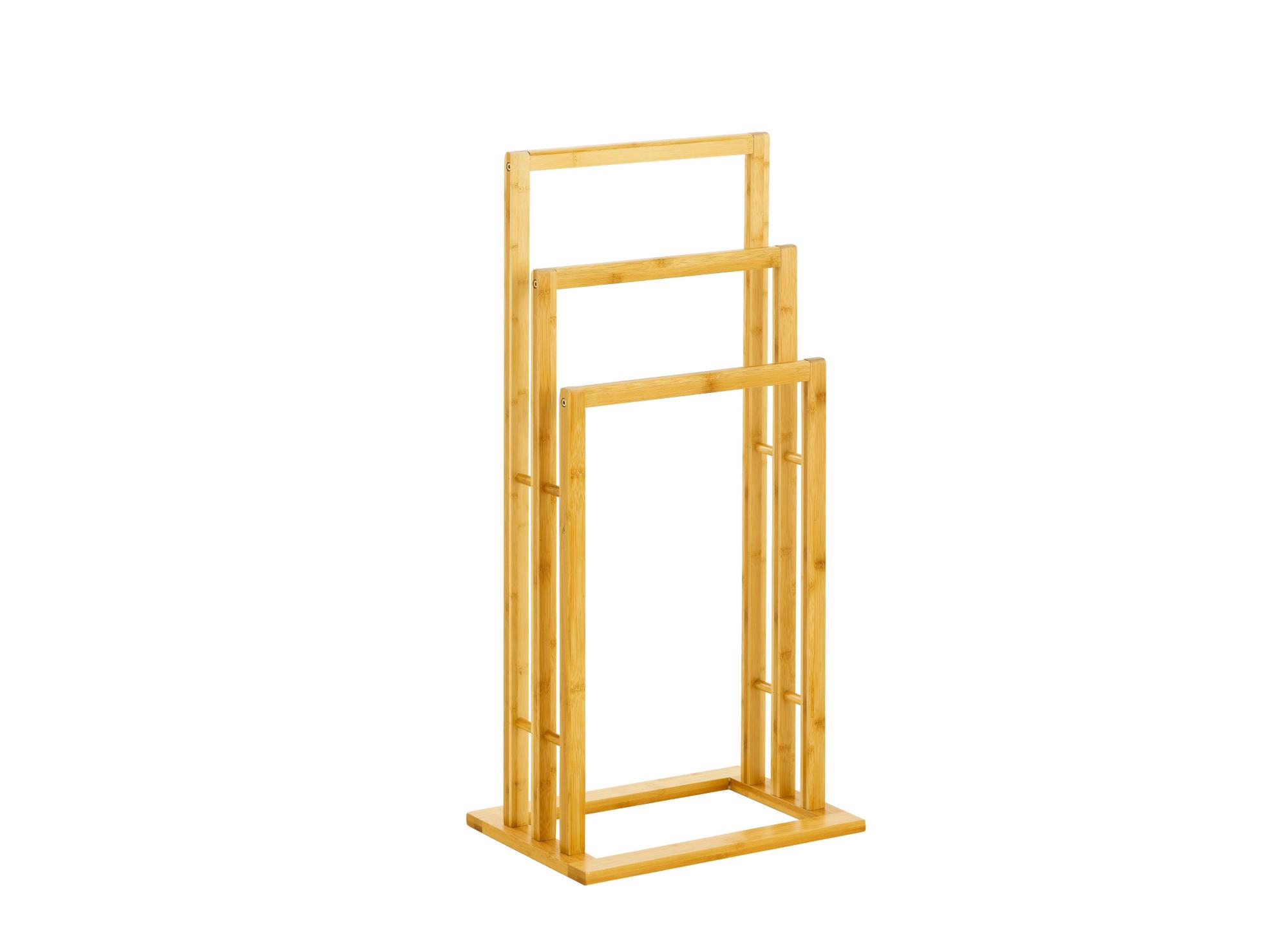 Porte serviette en bambou vernis coloris  naturel
