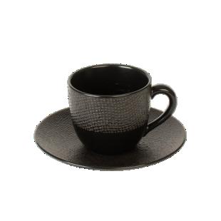 FLY-tasse cafe 8cl et soucoupe noir