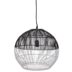 FLY-suspension h 38,5 cm d 41,5 cm bambou noir/blanc