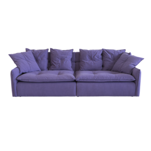 FLY-canape fixe 4 places tissu violet
