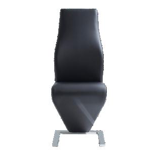 FLY-chaise tissu polyurethane coloris noir