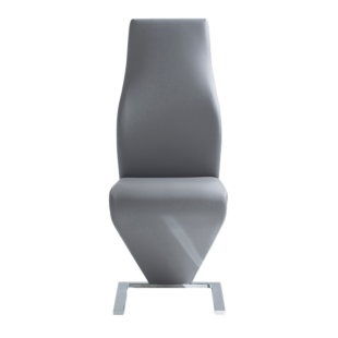 FLY-chaise tissu polyurethane coloris gris