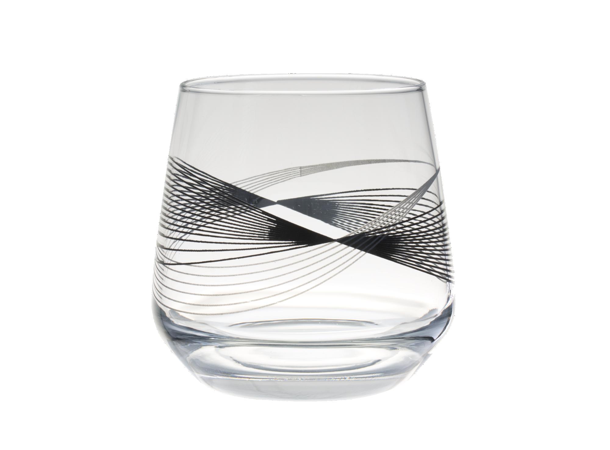 Gobelet contenance 34,5cl motifs geometriques en verre mecanique tein ...