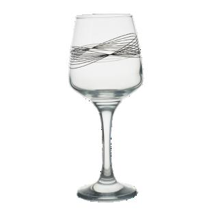 FLY-verre vin 29,5cl motifs geometriques