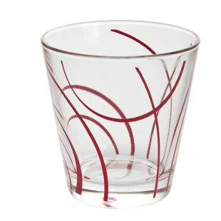 FLY-gobelet 27cl verre rouge