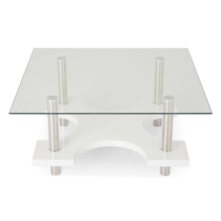 FLY-table basse carree coloris blanc