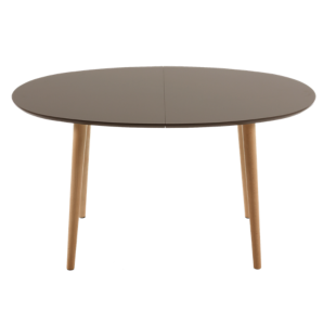 FLY-table extensible ovale gris/hetre