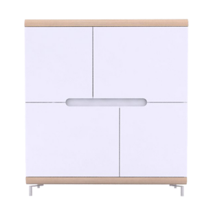 FLY-rangement haut 4 portes chene et blanc