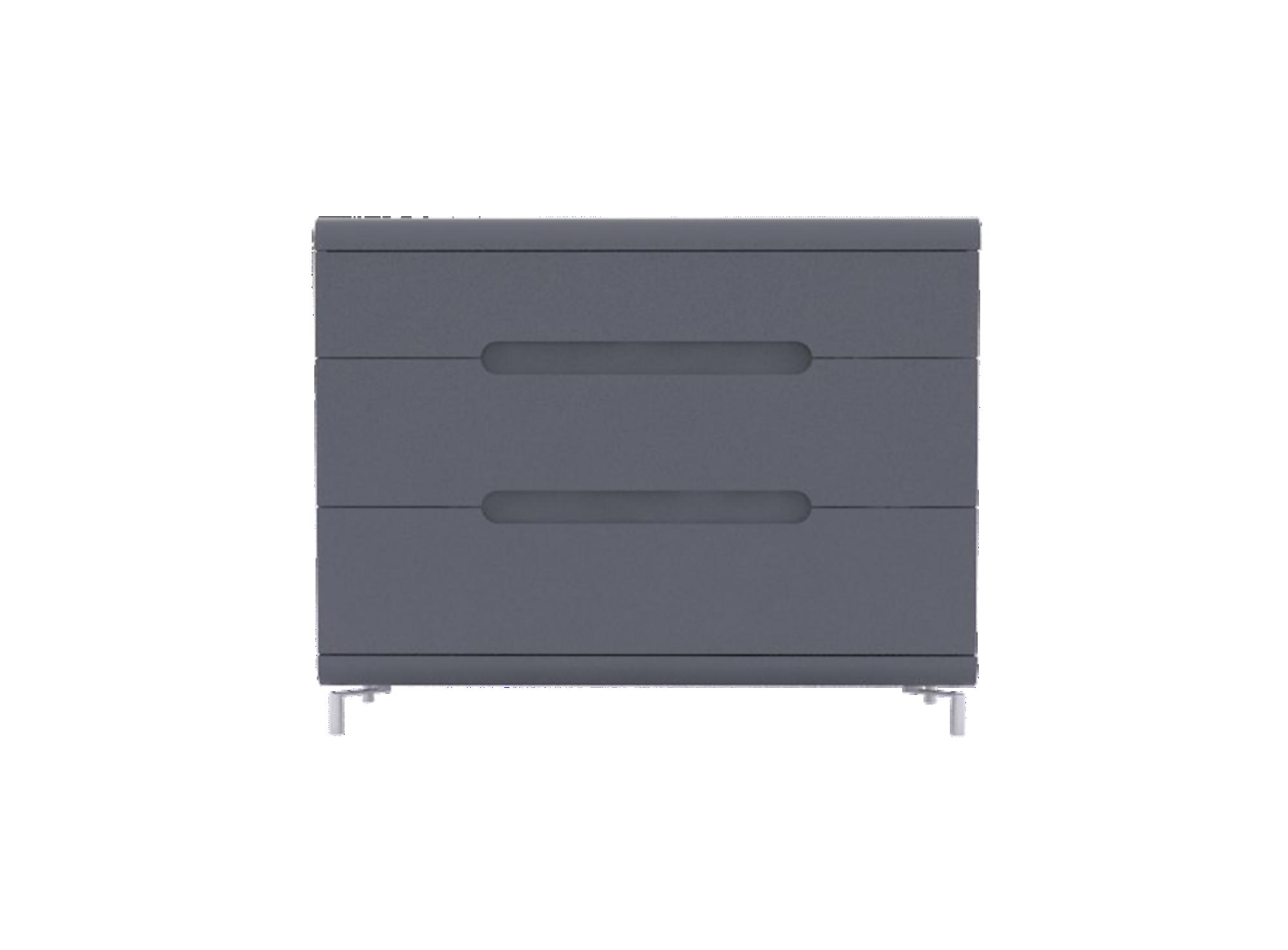 commode 3 tiroirs gris bandeau gris meuble fly. Black Bedroom Furniture Sets. Home Design Ideas