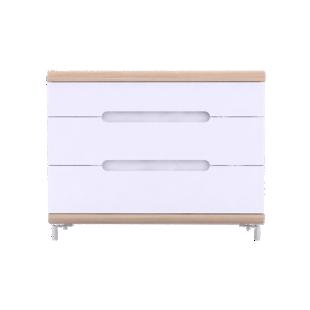 FLY-commode 3 tiroirs chene et blanc