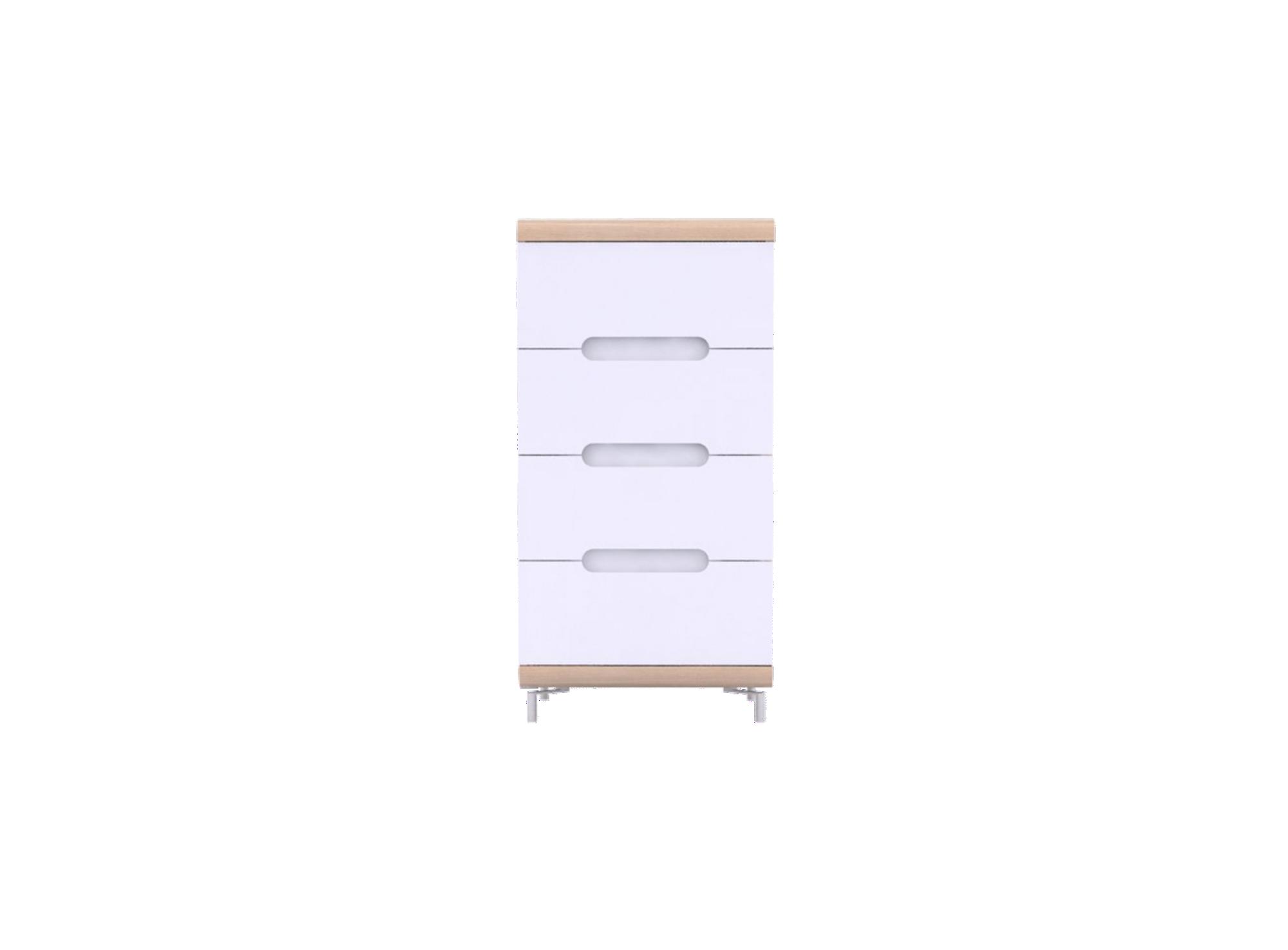 chiffonnier 4 tiroirs chene et blanc fly. Black Bedroom Furniture Sets. Home Design Ideas
