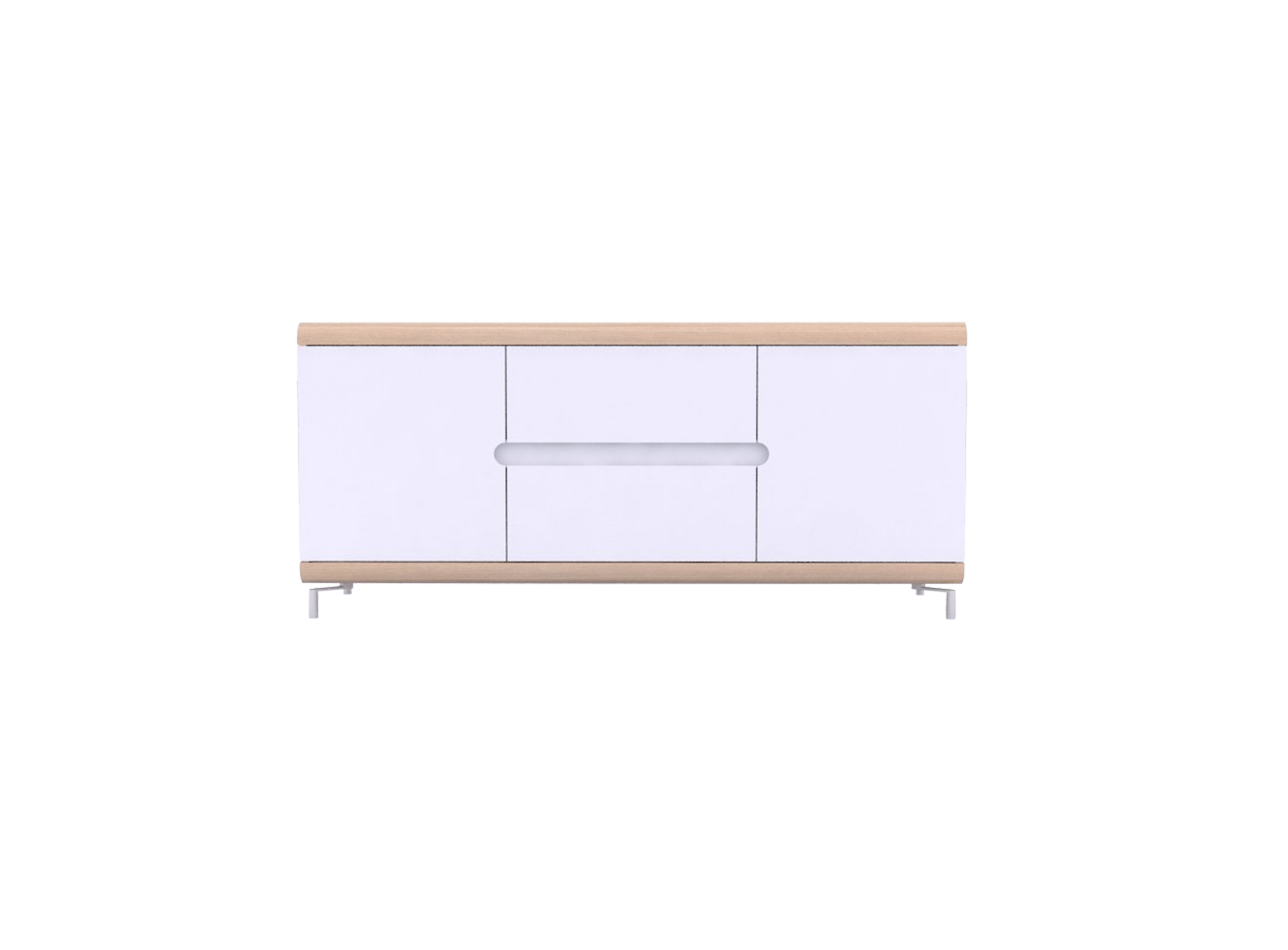 bahut bas 2 portes 2 tiroirs chene et blanc fly. Black Bedroom Furniture Sets. Home Design Ideas
