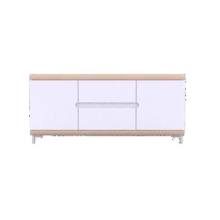 FLY-bahut bas 2 portes 2 tiroirs chene et blanc