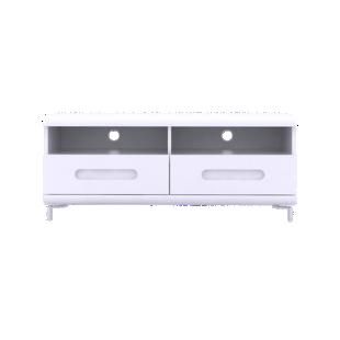 FLY-meuble tv 2 tiroirs blanc/4 bandeaux couleurs