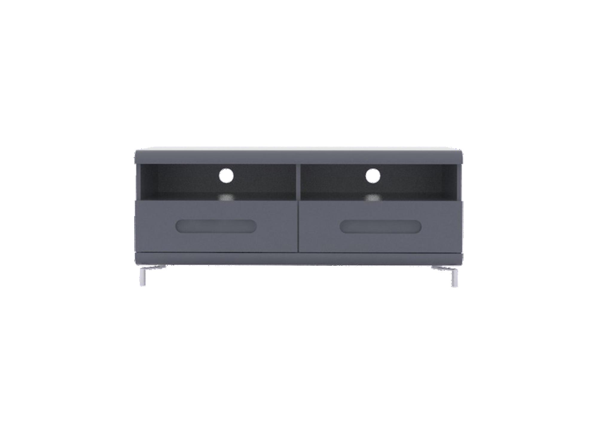 Meuble tv 2tiroirs gris / bandeau gris structure en panneaux de parti ...